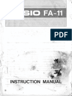 Casion FA-11 User Manual
