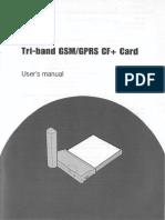 Tri Band GSM GPRS CF Card User Manual