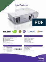 BenQ W1110 1080p Full HD 3D Wireless DLP Home Projector