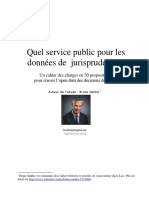 Quel service public pour les données de  jurisprudence - Un cahier des charges en 30 propositions,