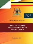 Uganda Health Sector Development Plan 2015/16-2019/20
