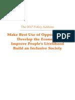 Hong Kong 2017 Policy Address