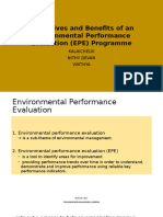 Objectives and Benefits of an Environmental Performance Evaluation