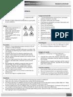 OCR A2 Chemistry Student Teacher Technician Worksheets Activity 5