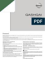 j11 Nissan Qashqai Owner's Manual