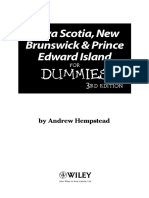 Nova Scotia New Brunswick and Prince Edward Island for Dummies (ISBN - 0470153342)
