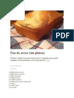 RECETA Pan de Arroz (Sin Gluten)