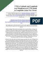 Converting UTM to Latitude and Longitude