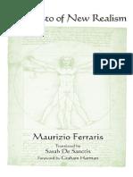 Ferraris, De Sanctis, Harman - Manifesto of New Realism
