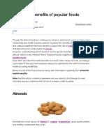 The Health Benefits of Popular Foods