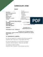 Curriculum Vitae Fiorella