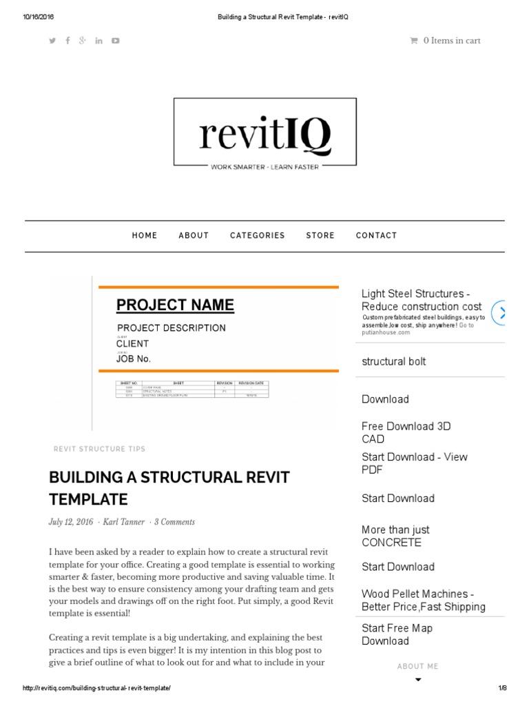 Building a Structural Revit Template - revitIQ pdf   Autodesk Revit