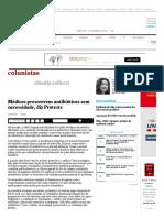 Médicos prescrevem antibióticos sem necessidade, diz Proteste - 15_12_2015 - Claudia Collucci - Colunistas - Folha de S