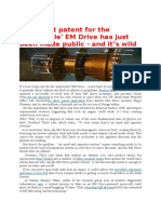 (the Latest Patent for the 'Impossible' EM Drive Has Just Been Made Public - And It's Wild)