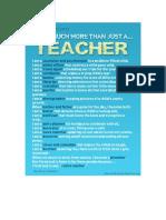 I'm a Teacher Poster