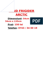 Vand Frigider Arctic