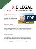 E-legal Incasso Advocaten Incasso Bureau Rotterdam
