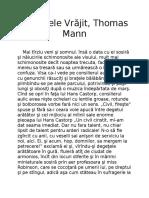Vis-Muntele Vrăjit Thomas Mann