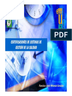 Certificaciones de Sistemas de Gestion de La Calidad