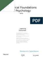 Biological Foundations of Psychology