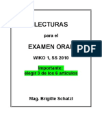 Lecturas Oral 2010