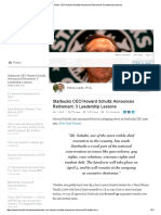 Starbucks CEO 3 Leadership Lessons
