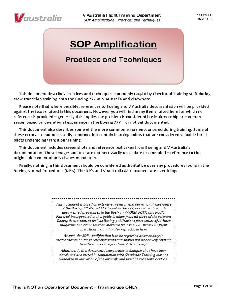 SOP Practices And Techniques 1 9 HL ExVirginOz Pdf