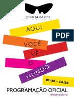 festival do Rio 2015 programação