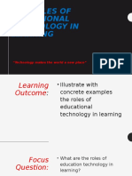 The Roles of Educational Technology in Learning (Lesson 3)
