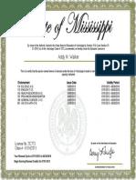 walker ms teaching certificate