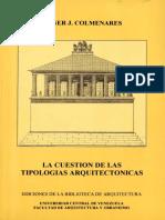 Colmenares, Abner. La Cuestión de las Tipologías Arquitectónicas