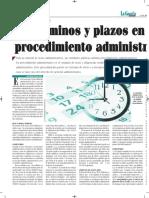 Términos y Plazos en El Procedimiento Administrativo - La Gaceta Jurídica - Bolivia