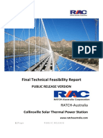 Collinsville Solar Thermal Feasibility Study - Technical Feasibility Study - Public Release