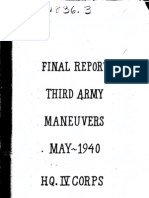 WWII 3rd Army Maneuvers Report