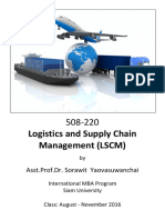 Course Outline Questions 508220 Logistics and SCM Sorawit Aug 2016