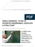 """Pablo Ferreiro_ """"Si No Te Diviertes Enseñando, Dedícate a Otra Cosa"""" – Web Del Maestro Cmf"""