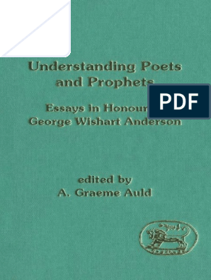 A Graeme Auld Understanding Poets And Prophets Essays In