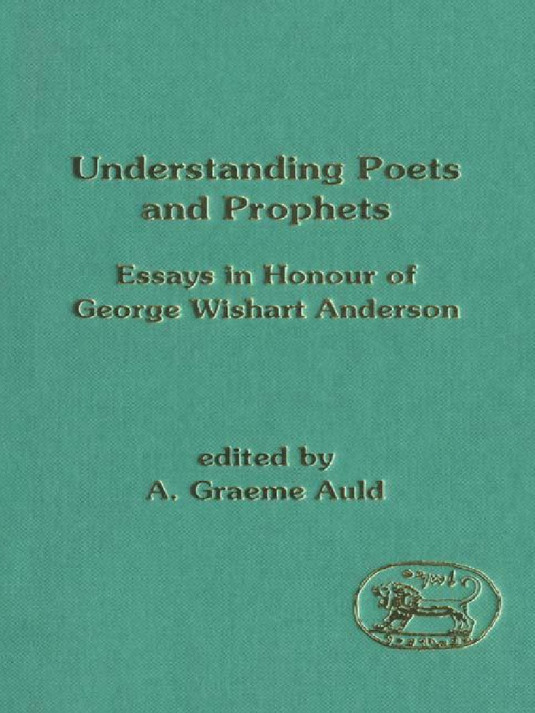 A. Graeme Auld Understanding Poets and Prophets Essays in Honour of ...