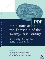 Athalya Brenner, Jan Willem Van Henten Bible Translation on the Threshold of the Twenty-First Century Authority, Reception, Culture and Religion JSOT Supplement 2002.pdf