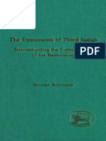 Brooks Schramm The Opponents of Third Isaiah Reconstructing the Cultic History JSOT Supplement Series 1995.pdf