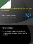 Displays, Controls & Human-Machine Interaction