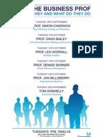 Meet the Business Prof - Autumn Series 2010