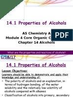 14.1 Properties of Alcohols LP