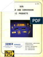 PMI Linear and Data Conversion IC Products 1976