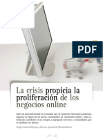 La crisis propicia la proliferación de negocios online. Sergio Garasa. Mkt+Ventas jul-ago2010 nº259