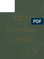 God's Word for Our World, Volume 2 Theological and Cultural Studies in Honor of Simon John De Vries Journal for the Study of the Old.pdf