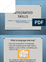 Integrating the four skills in English language teaching
