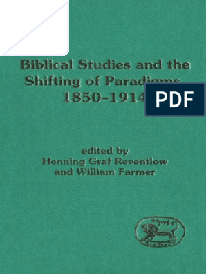 Henning Graf Reventlow William Farmer Biblical Studies And