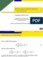 Solving ODE-BVP using the Galerkin's Method