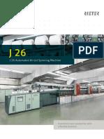 J 26 Air-Jet Spinning Machine Brochure 2887-V1 en Original 75123